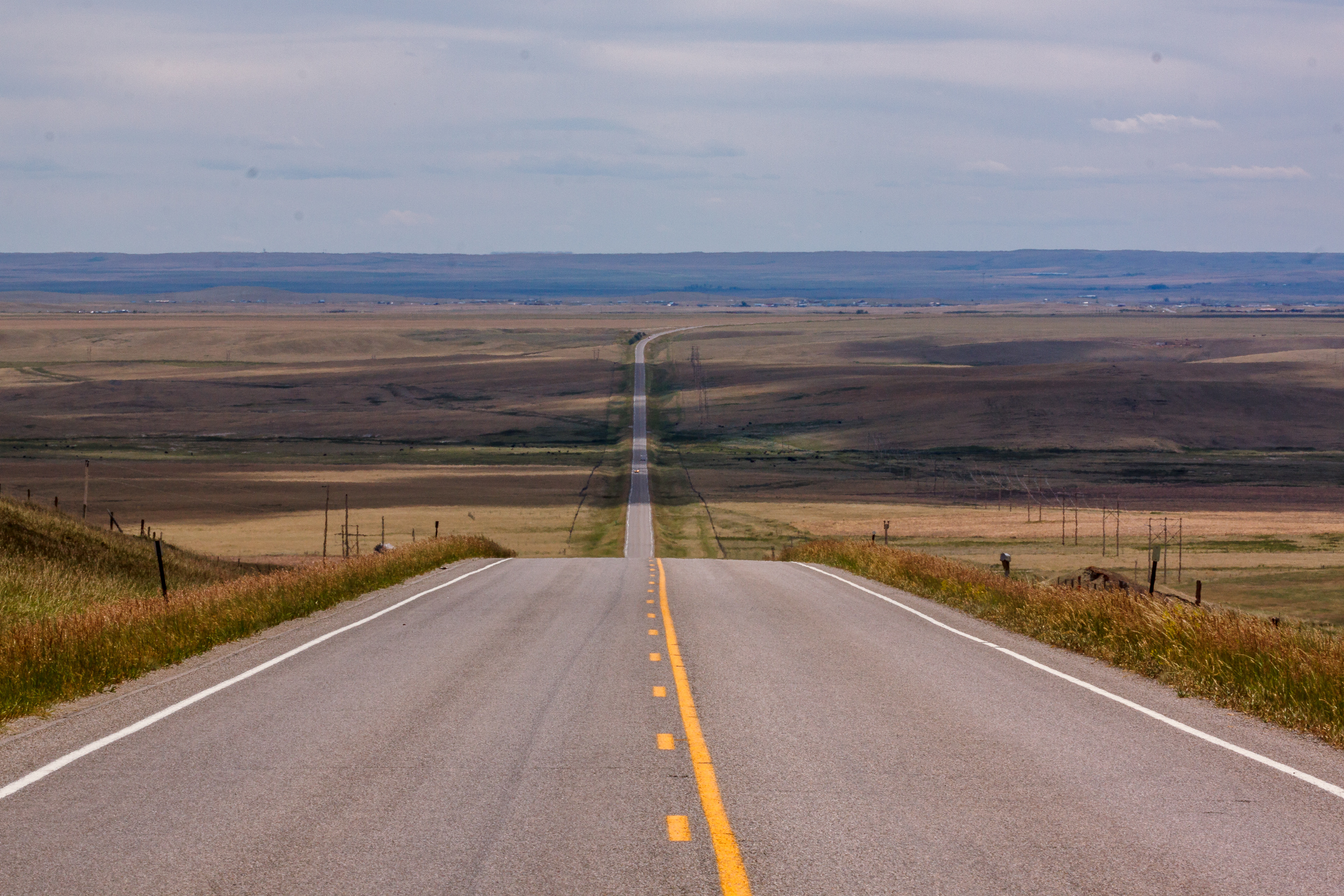 Picture of a long straight highway